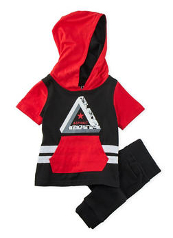 Baby Boys Color Block Hoodie and Joggers Set - 3653073451007