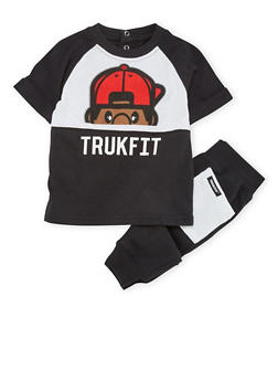 Baby Boy Trukfit Graphic Tee and Joggers Set - 3653073452008
