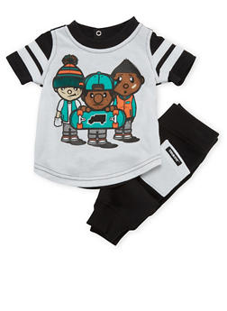 Baby Boy Trukfit Graphic Tee with Joggers Set - 3654073453001