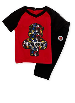 Baby Boy Trukfit T-Shirt and Jeans Set - 3655073453010