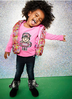 Toddler Girls Trukfit Top with Vest and Jeans Set - 3670073452106
