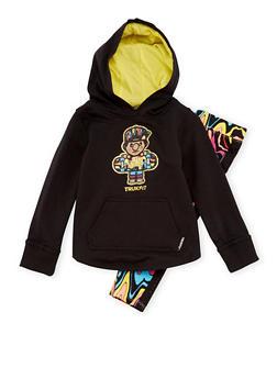 Toddler Girls Trukfit Hoodie and Leggings Set - 3671073452019