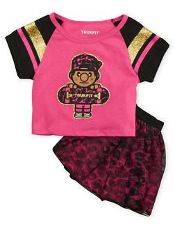 Toddler Girls Trukfit T-Shirt and Tutu Set - 3672073452000