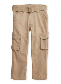 Boys 4-7 Cargo Pants with Belt - 3701054730020