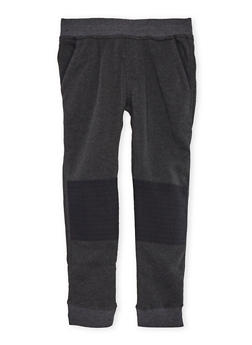 Boys 8-20 Fleece Moto Joggers - 3702061950016