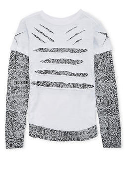 Boys 4-7 Layered Top with Distressed Front - 3703054730120