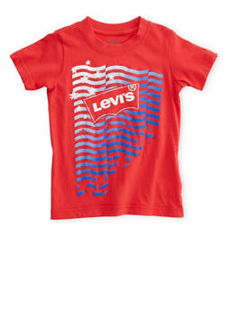Boys 4-7 Levis T-Shirt with Patriotic Logo Graphic at Front - 3703070340100