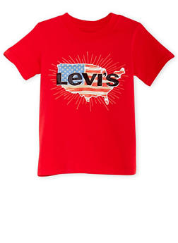 Boys 4-7 Levis T-Shirt with American Logo Graphic - 3703070340105