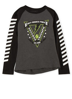 Boys 8-20 Color Block Top with Graphic - 3704023130011