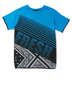 Boys 8-18 Printed Tee with Fresh Graphic - 3704054730113