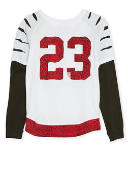Boys 8-18 Layered Top with 23 Patch - 3704054730123