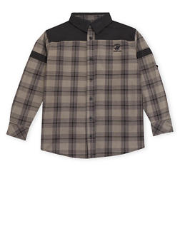 Boys 8-20 BHPC Plaid Button Up Shirt - 3704061950127