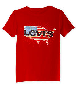 Boys 8-20 Levis Graphic T-Shirt with Logo and USA Print - 3704070340105