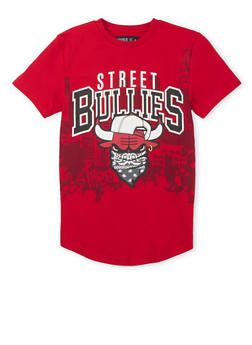 Boys 8-20 T-Shirt with Street Bullies Graphic - 3704072700002