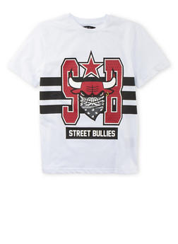 Boys 8-20 T-Shirt with Street Bullies Graphic - 3704072700005