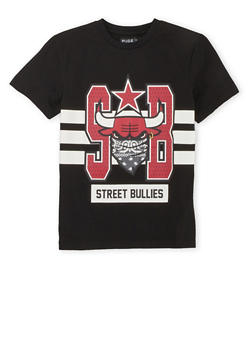 Boys 8-20 T-Shirt with Street Bullies Graphic - 3704072700006