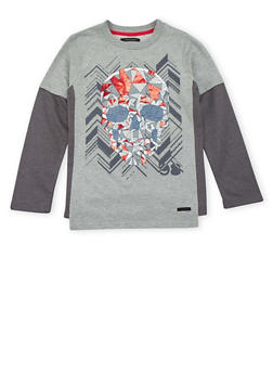Boys 8-18 Sean John Top with Skull Graphic - 3704072750020