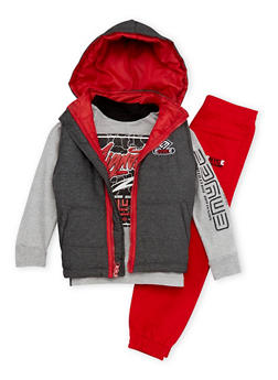 Boys 4-7 Enyce Graphic Top with Puffer Vest and Joggers Set - 3715054730050