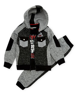 Boys 4-7 Enyce Hoodie and Graphic Tee with Joggers Set - 3715054730060