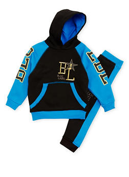 Boys 4-7 Blac Label Color Block Hoodie and Joggers Set - 3715061950076