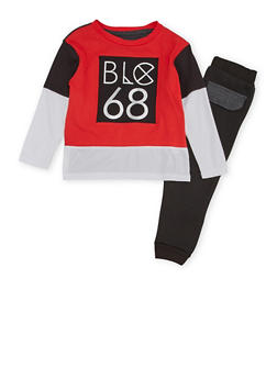 Boys 4-7 Blac Label Graphic Top and Joggers Set - 3715061950087