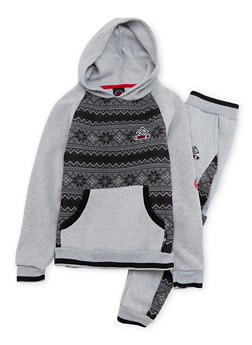 Boys 8-18 Enyce Graphic Hoodie and Joggers Set - 3716054730037
