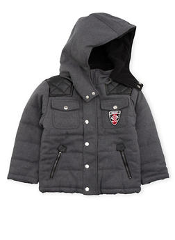 Boys 4-6 Enyce Padded Coat with Faux Leather Accents - 3717054730001