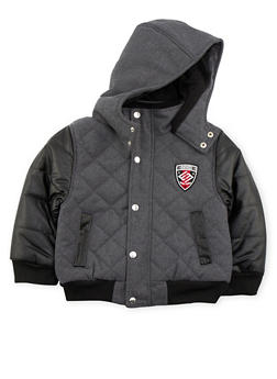 Boys 4-7 Enyce Quilted Jacket with Hood - 3717054730021