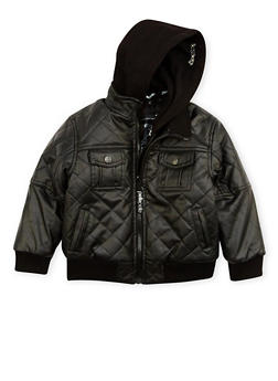 Boys 4-7 Pelle Pelle Quilted Faux Leather Jacket - 3717068320070