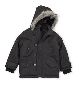 Boys 4-7 Pelle Pelle Parka with Fur Hood - 3717068320071