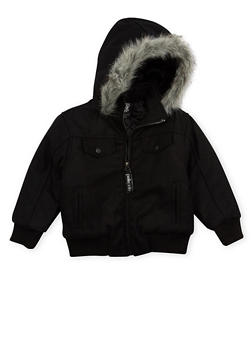 Boys 4-7 Pelle Pelle Parka with Fur Hood - 3717068320072