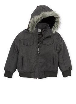 Boys 4-7 Pelle Pelle Hooded Jacket with Faux Fur Trim - 3717068320073