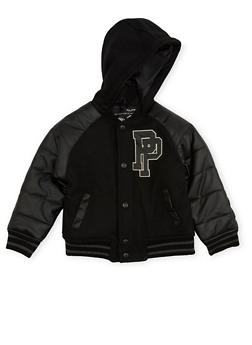 Boys 4-7 Pelle Pelle Hooded Varsity Jacket - 3717068320074