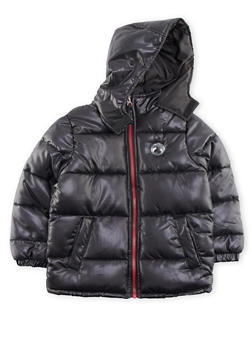 Boys 4-7 Quilted Puffer Coat with Hood - 3717071520025
