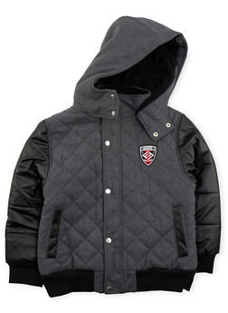 Boys 8-18 Enyce Quilted Jacket with Hood - 3718054730002