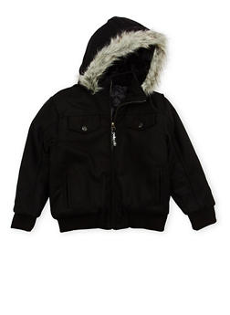 Boys 8-18 Pelle Pelle Jacket with Faux Fur Trim - 3718068320072