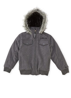 Boys 8-18 Pelle Pelle Parka with Fur Hood - 3718068320073