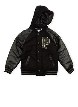 Boys 8-18 Pelle Pelle Hooded Varsity Jacket - 3718068320074