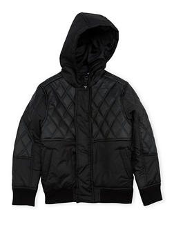 Boys 8-18 Pelle Pelle Jacket with Quilted Leather - 3718068320075