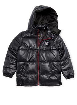 Boys 8-18 Puffer Coat with Hood - 3718071520025
