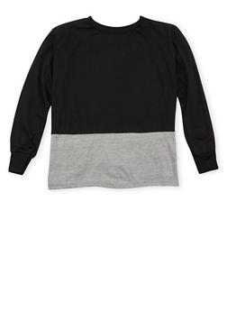 Boys 8-18 Color Block Top with Crew Neck - 3721023130060