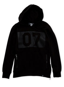 Boys 8-18 Hoodie with 07 Graphic and Zip Pockets - 3721047380005