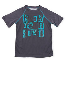 Boys 8-20 Performance Top with Know Your Strength Graphic - 3721061950033