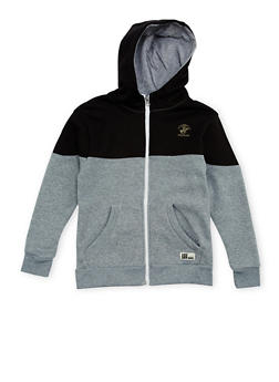 Boys 8-20 BHPC Paneled Hoodie with Graphic - 3721061950081