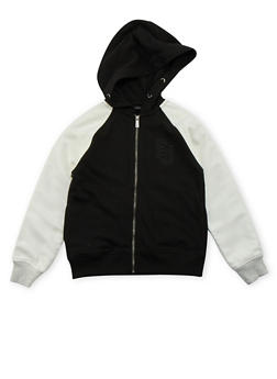 Boys 8-20 Sean John Zip Up Hoodie with Contrast Sleeves - 3721072750005