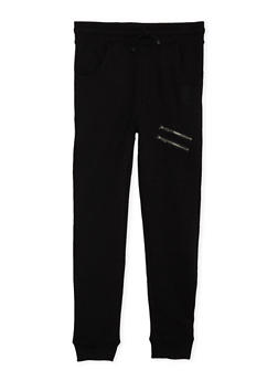 Boys 8-20 Sean John Joggers with Zipper Accents - 3721072750006