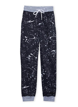 Boys 8-20 Joggers with Paint Splatter Print and Drawstring - 3721073150004