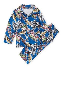 Boys 4-7 Printed Pajama Set - 3730054730001