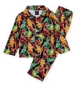 Boys 8-18 Printed Pajama Shirt and Pants Set - 3730054730002