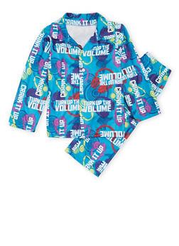 Boys 4-7 Printed Pajama Set - 3730054730003